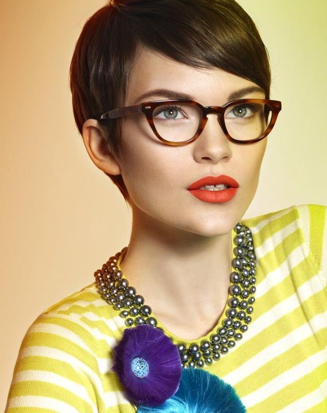 25 Best Glasses And Short Hair Images On Pinterest | Braids Regarding Short Haircuts With Glasses (View 6 of 20)