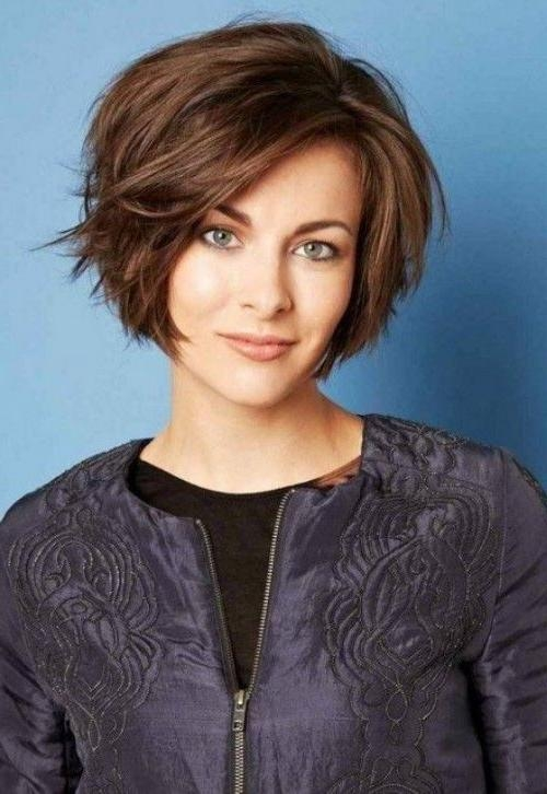 25+ Gorgeous Short Thick Hair Ideas On Pinterest | Short Bob Thick Pertaining To Short Hairstyles For Oval Face Thick Hair (View 14 of 20)