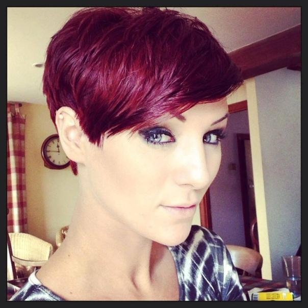 25 Perfect Burgundy Hair Color Styles For Burgundy Short Hairstyles (View 3 of 20)