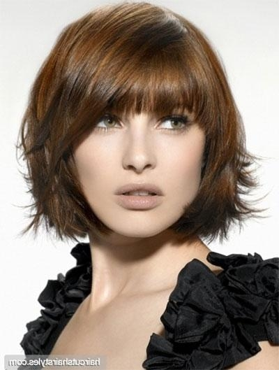 25 Short Bob Haircut Styles With Bangs & Layers For Girls & Women With Regard To Short Haircuts With Bangs And Layers (View 3 of 20)