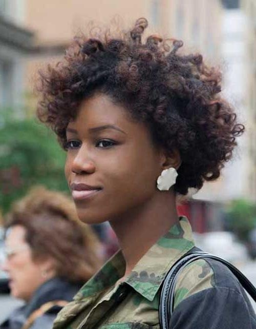 25 Short Curly Afro Hairstyles | Short Hairstyles 2016 – 2017 With Regard To Afro Short Hairstyles (View 6 of 20)