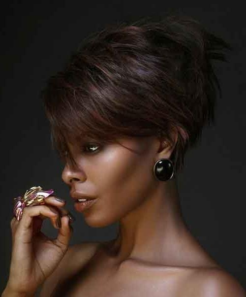 25 Short Haircuts For Black Women | Short Hairstyles 2016 – 2017 With Regard To Edgy Short Haircuts For Black Women (View 4 of 20)