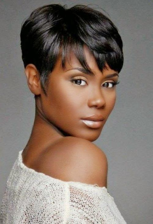 25+ Trending African American Short Haircuts Ideas On Pinterest Throughout Short Hairstyles For African American Women With Thin Hair (View 13 of 20)