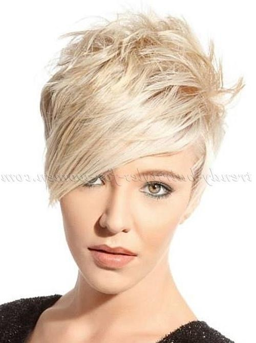 25+ Trending Short Hair Long Bangs Ideas On Pinterest | Long Pixie Pertaining To Short Haircuts With Long Fringe (View 6 of 20)