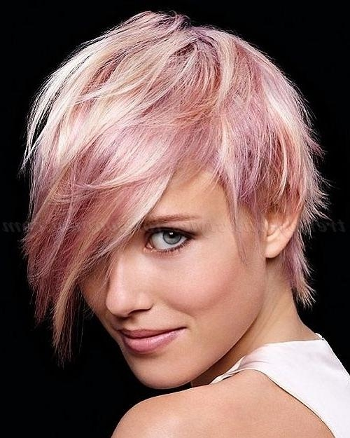 25+ Trending Short Hair Long Bangs Ideas On Pinterest | Pixie Long Intended For Ladies Short Hairstyles With Fringe (View 5 of 20)