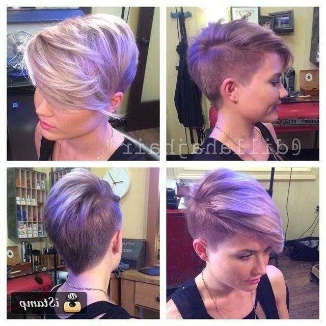 25+ Trending Short Hair Shaved Sides Ideas On Pinterest | Shaved Throughout Short Hairstyles With Shaved Side (View 4 of 20)