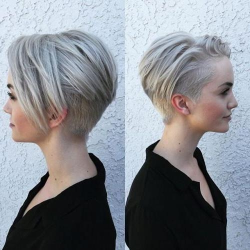 25+ Trending Short Hair Shaved Sides Ideas On Pinterest | Shaved Throughout Short Hairstyles With Shaved Sides (View 6 of 20)