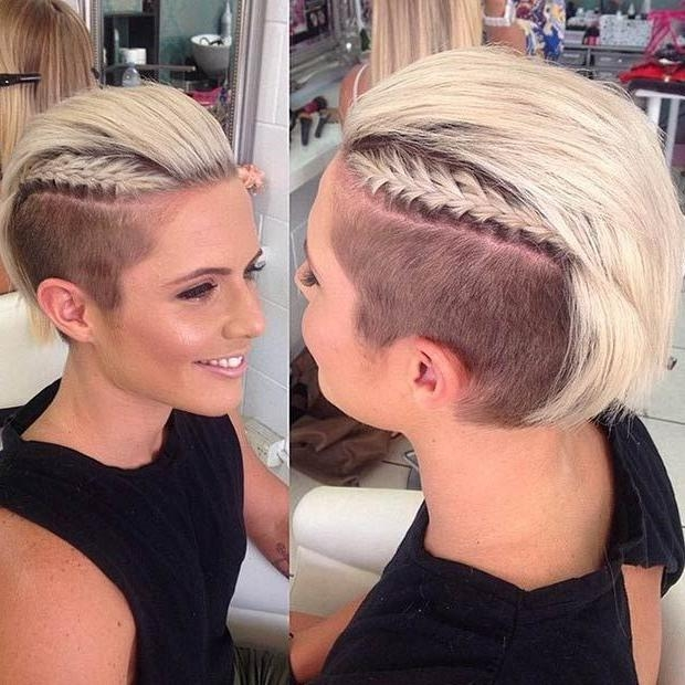25+ Trending Short Shaved Hairstyles Ideas On Pinterest | Undercut For Short Hairstyles With Shaved Sides For Women (View 13 of 20)