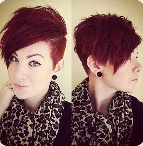 25+ Trending Short Shaved Hairstyles Ideas On Pinterest | Undercut Intended For Short Haircuts With Shaved Side (View 4 of 20)