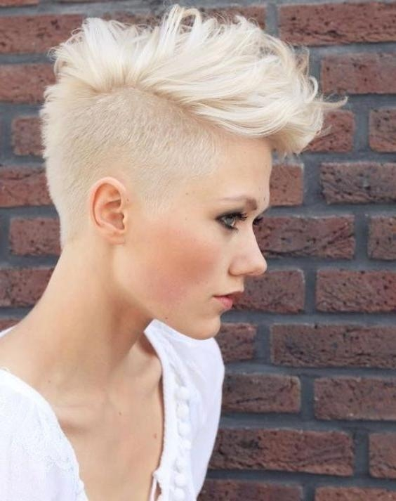 25+ Trending Short Shaved Hairstyles Ideas On Pinterest | Undercut Pertaining To Short Hairstyles With Shaved Sides (View 11 of 20)