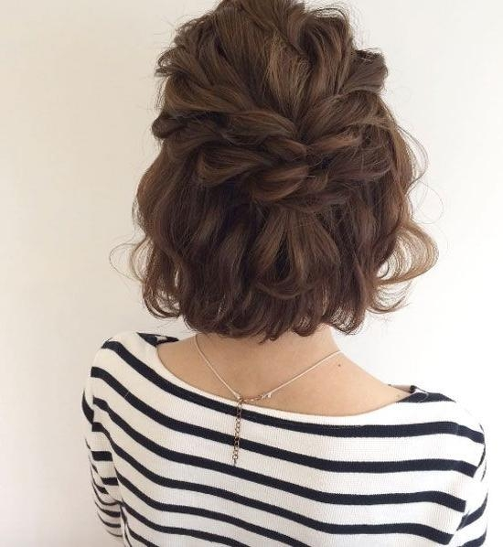 25+ Unique Half Updo Ideas On Pinterest | Wedding Half Updo In Half Up Half Down Short Hairstyles (View 8 of 20)