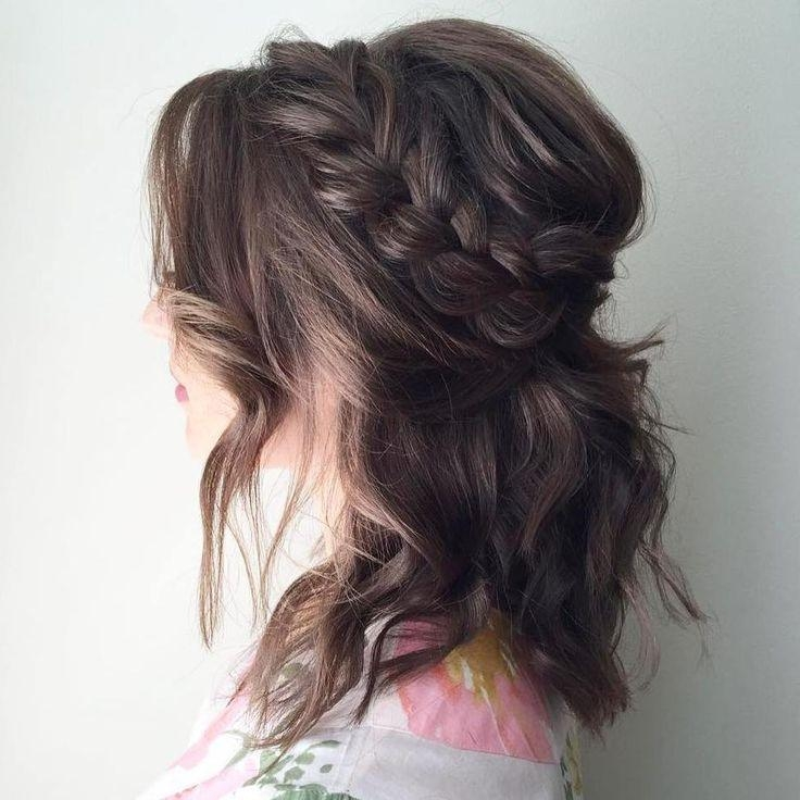 25+ Unique Half Updo Ideas On Pinterest | Wedding Half Updo Within Half Up Half Down Short Hairstyles (View 9 of 20)