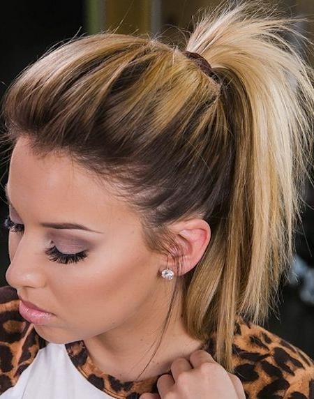 25+ Unique Medium Hair Ponytail Ideas On Pinterest   Easy For Teased Short Hairstyles (View 14 of 20)
