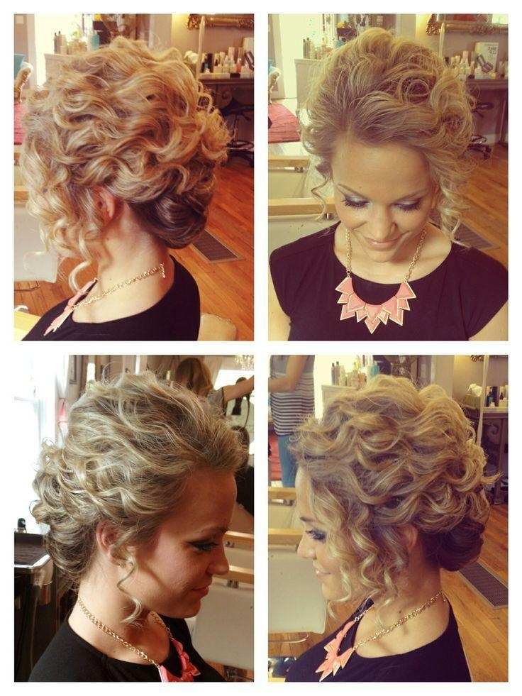 25+ Unique Pageant Hair Updo Ideas On Pinterest | Curly Bridesmaid With Short Hairstyles For Prom Updos (View 1 of 20)