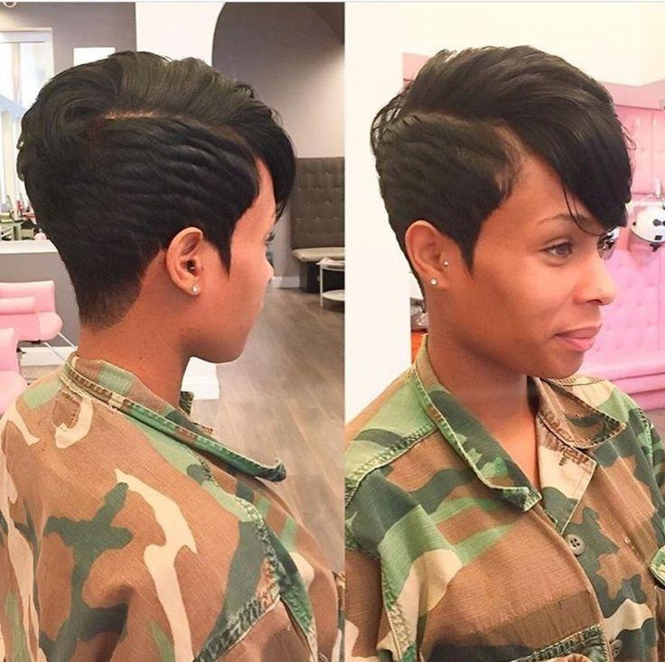 25+ Unique Short Black Hairstyles Ideas On Pinterest | Short Weave Inside Sexy Black Short Hairstyles (View 3 of 20)