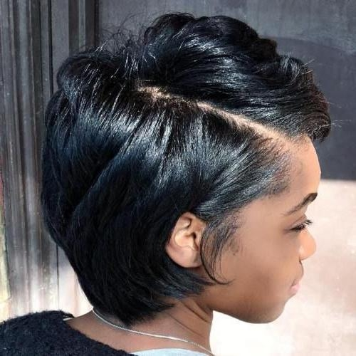 25+ Unique Short Black Hairstyles Ideas On Pinterest | Short Weave Pertaining To Black Hairstyles Short Haircuts (View 2 of 20)