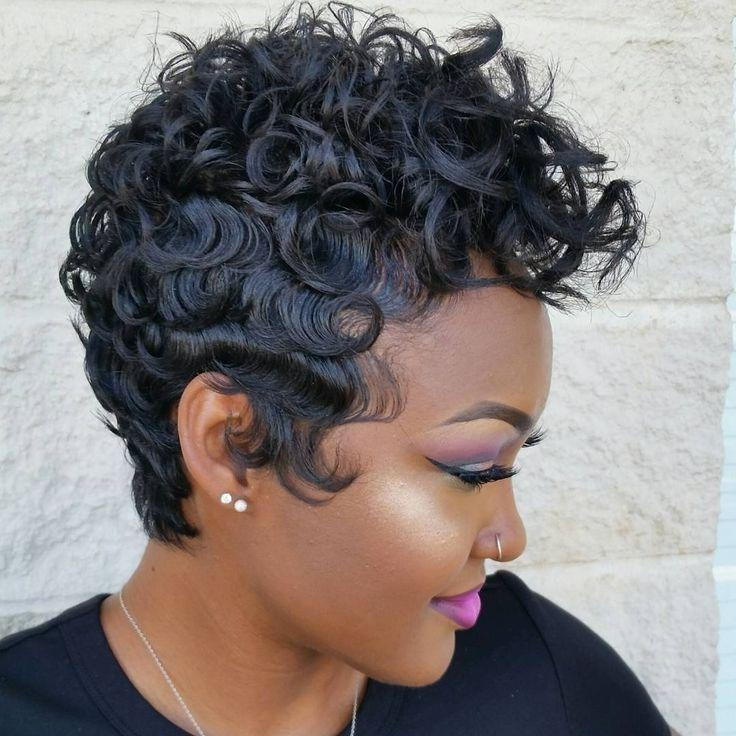 25+ Unique Short Black Hairstyles Ideas On Pinterest | Short Weave Pertaining To Curly Black Short Hairstyles (View 8 of 20)