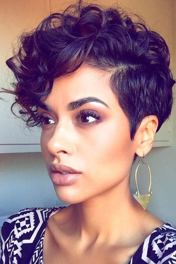 25+ Unique Short Black Hairstyles Ideas On Pinterest | Short Weave Regarding Short Haircuts For Black Woman (View 2 of 20)