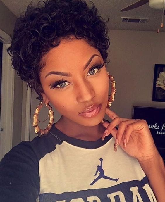 25+ Unique Short Black Hairstyles Ideas On Pinterest | Short Weave With Regard To Curly Short Hairstyles For Black Women (View 9 of 20)