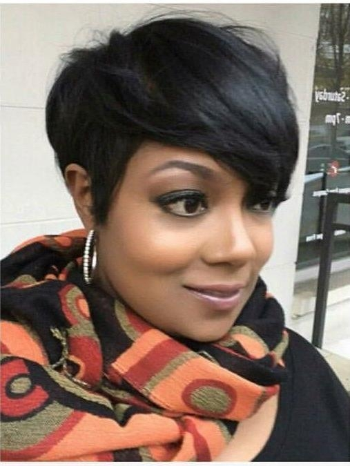25+ Unique Short Black Hairstyles Ideas On Pinterest | Short Weave With Regard To Short Hairstyles For Black Hair (View 7 of 20)