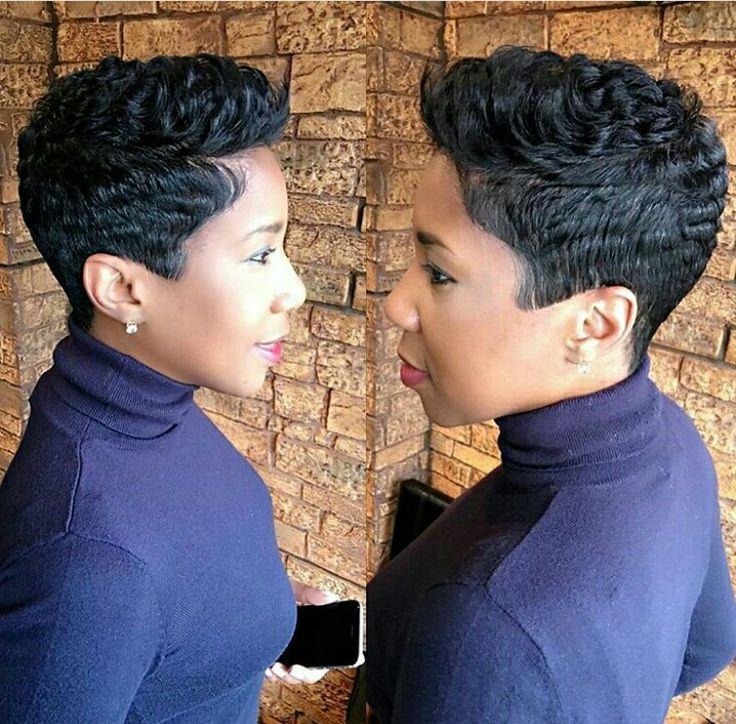 25+ Unique Short Black Hairstyles Ideas On Pinterest | Short Weave With Sexy Black Short Hairstyles (View 6 of 20)