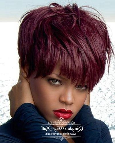 25+ Unique Short Burgundy Hair Ideas On Pinterest   Plum Hair, Red For Burgundy Short Hairstyles (View 5 of 20)