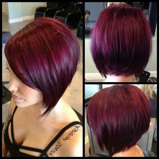 25+ Unique Short Burgundy Hair Ideas On Pinterest   Plum Hair, Red Intended For Burgundy Short Hairstyles (View 6 of 20)