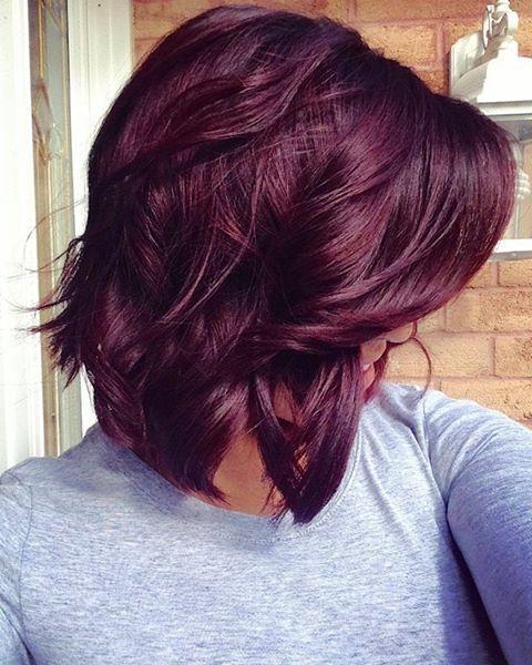 25+ Unique Short Burgundy Hair Ideas On Pinterest | Plum Hair, Red Regarding Burgundy Short Hairstyles (View 9 of 20)
