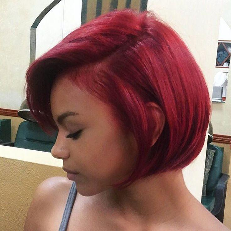 25+ Unique Short Burgundy Hair Ideas On Pinterest | Plum Hair, Red Regarding Burgundy Short Hairstyles (View 8 of 20)