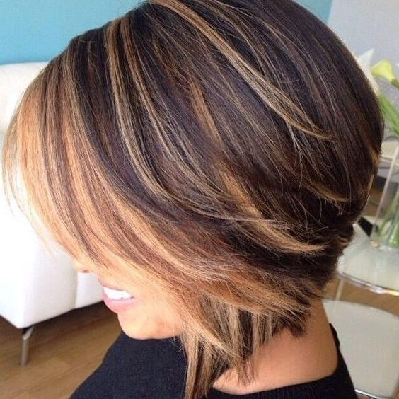 25+ Unique Short Caramel Hair Ideas On Pinterest | Textured Bob Within Short Hairstyles And Highlights (View 10 of 20)