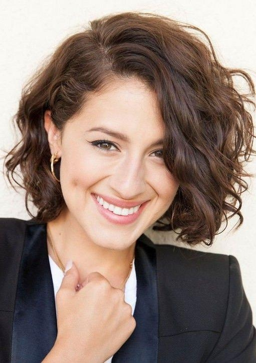 25+ Unique Short Curly Hairstyles Ideas On Pinterest | Hairstyles For Short Hairstyles For Round Faces Curly Hair (View 9 of 20)