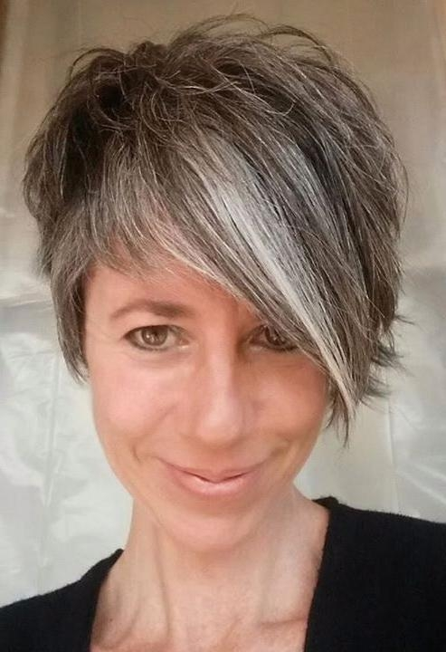 25+ Unique Short Gray Hair Ideas On Pinterest | Grey Pixie Hair For Gray Short Hairstyles (View 17 of 20)