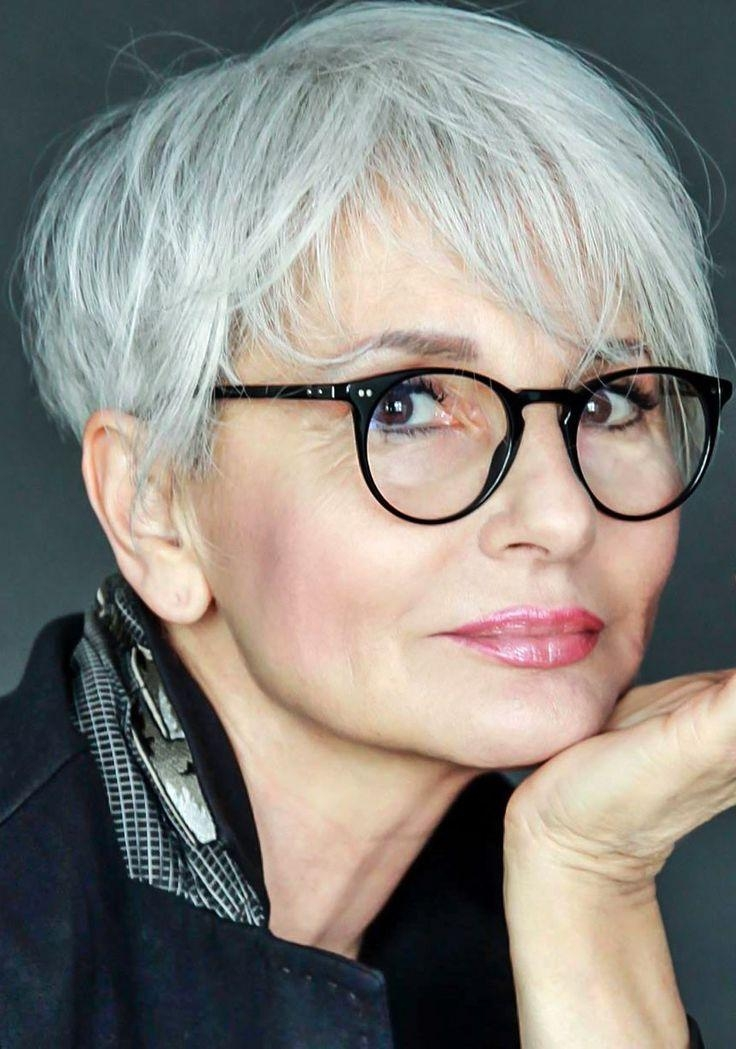 20 Inspirations Short Hairstyles for Grey Haired Woman