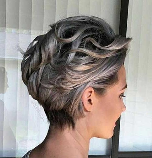 25+ Unique Short Gray Hair Ideas On Pinterest | Grey Pixie Hair Regarding Gray Short Hairstyles (View 5 of 20)