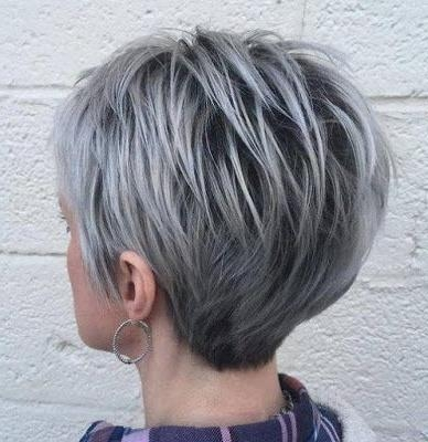 25+ Unique Short Gray Hair Ideas On Pinterest | Grey Pixie Hair With Regard To Gray Short Hairstyles (View 6 of 20)