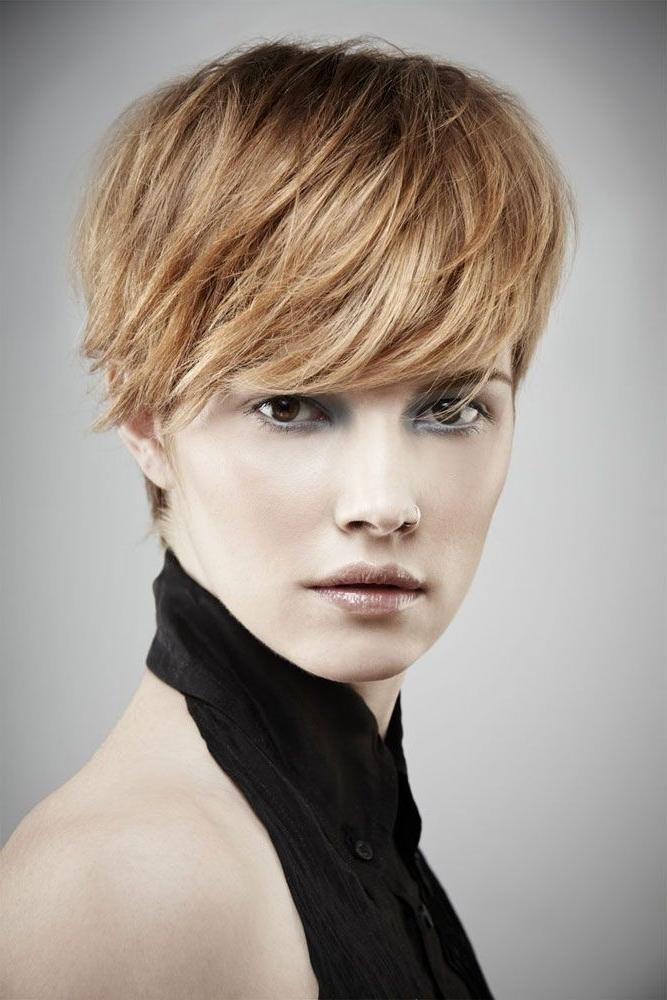 26 Best Short Haircuts For Long Face – Popular Haircuts Within Short Haircuts With Longer Bangs (View 11 of 20)