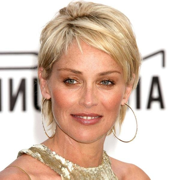 26 Encouraging Sharon Stone Short Hair Styles – Slodive Within Sharon Stone Short Haircuts (View 4 of 20)