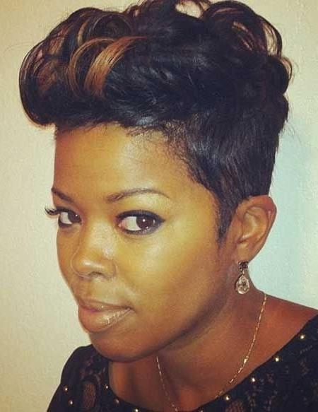 28 Trendy Black Women Hairstyles For Short Hair – Popular Haircuts With Regard To Short Hairstyles For African American Hair (View 6 of 20)