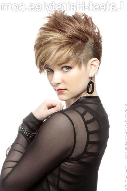 29 Short Hairstyles For Round Faces You Can Rock! Inside Edgy Asymmetrical Short Haircuts (View 8 of 20)