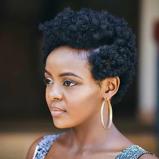 31 Best Short Natural Hairstyles For Black Women | Stayglam Throughout Natural Short Haircuts For Black Women (View 15 of 20)