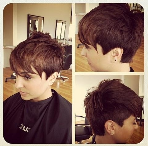 32 Stylish Pixie Haircuts For Short Hair – Popular Haircuts Inside Short Haircuts With One Side Shaved (View 6 of 20)