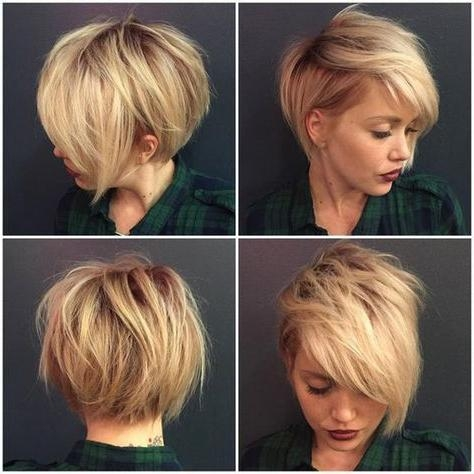 32 Trendy Hairstyles And Haircuts For Round Face | Short Hair Cuts Within Short Haircuts For Chubby Face (View 8 of 20)