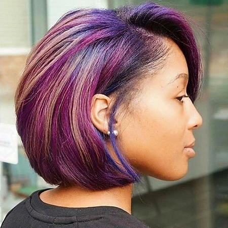 35 Best Short Hairstyles For Black Women 2017 | Short Hairstyles With Purple And Black Short Hairstyles (View 4 of 20)