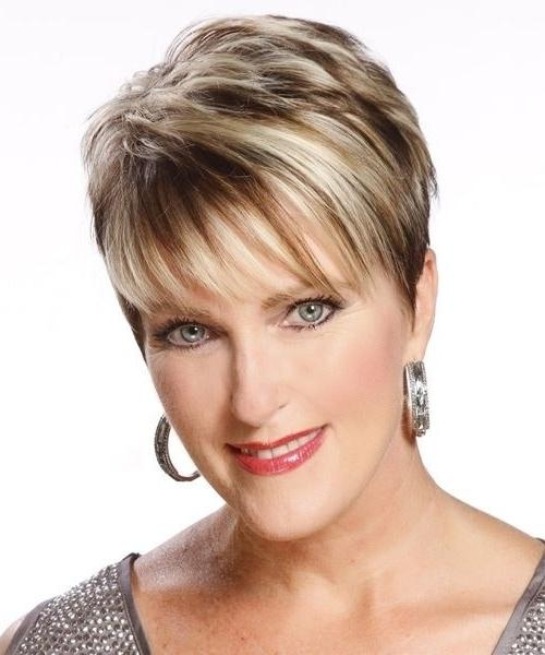 35 Pretty Hairstyles For Women Over 50: Shake Up Your Image & Come Inside Short Hairstyles With Wispy Bangs (View 10 of 20)