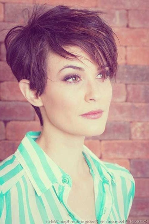 35 Short Haircuts For Thick Hair | Short Hairstyles 2016 – 2017 Regarding Short Haircuts For Thick Hair With Bangs (View 10 of 20)