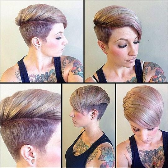 35 Very Short Hairstyles For Women – Pretty Designs For Short Hairstyles With Both Sides Shaved (View 11 of 20)