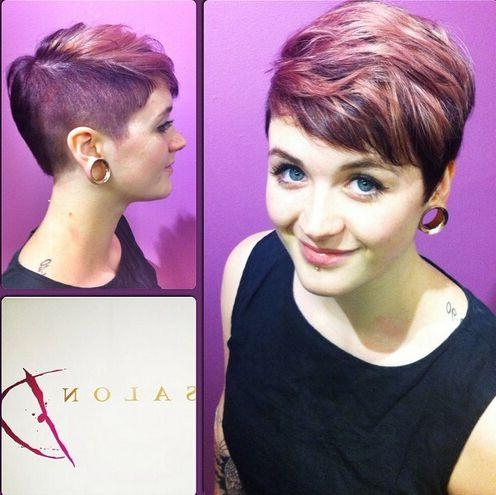 35 Very Short Hairstyles For Women – Pretty Designs With Shaved Side Short Hairstyles (View 9 of 20)