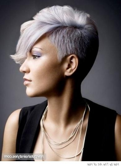 38 Best Fairest Hair Images On Pinterest | Shaved Sides, Braids With Short Haircuts With One Side Shaved (View 10 of 20)