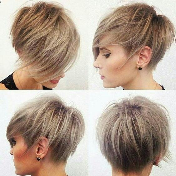 40 Best Short Hairstyles For Fine Hair 2018: Short Haircuts For Women Intended For Ash Blonde Short Hairstyles (View 10 of 20)