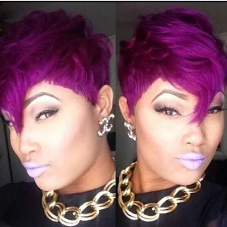 40+ Latest Short Hairstyles For Black Women | Short Hairstyles With Purple And Black Short Hairstyles (View 5 of 20)